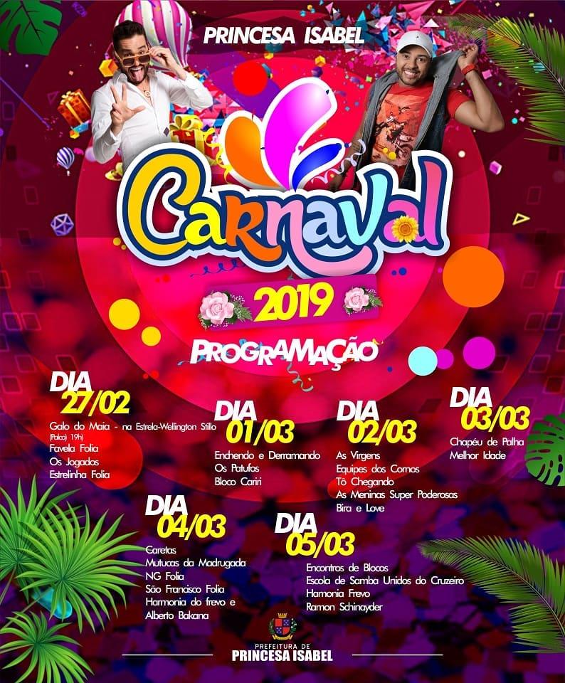 CARNAVAL 2019: PROGRAMAÇÃO OFICIAL
