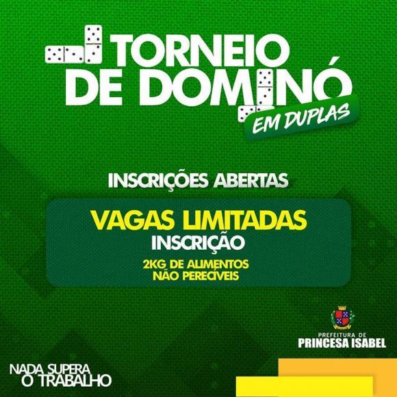 PREFEITURA DE PRINCESA REALIZA I TORNEIO DE DOMINÓ EM DUPLAS