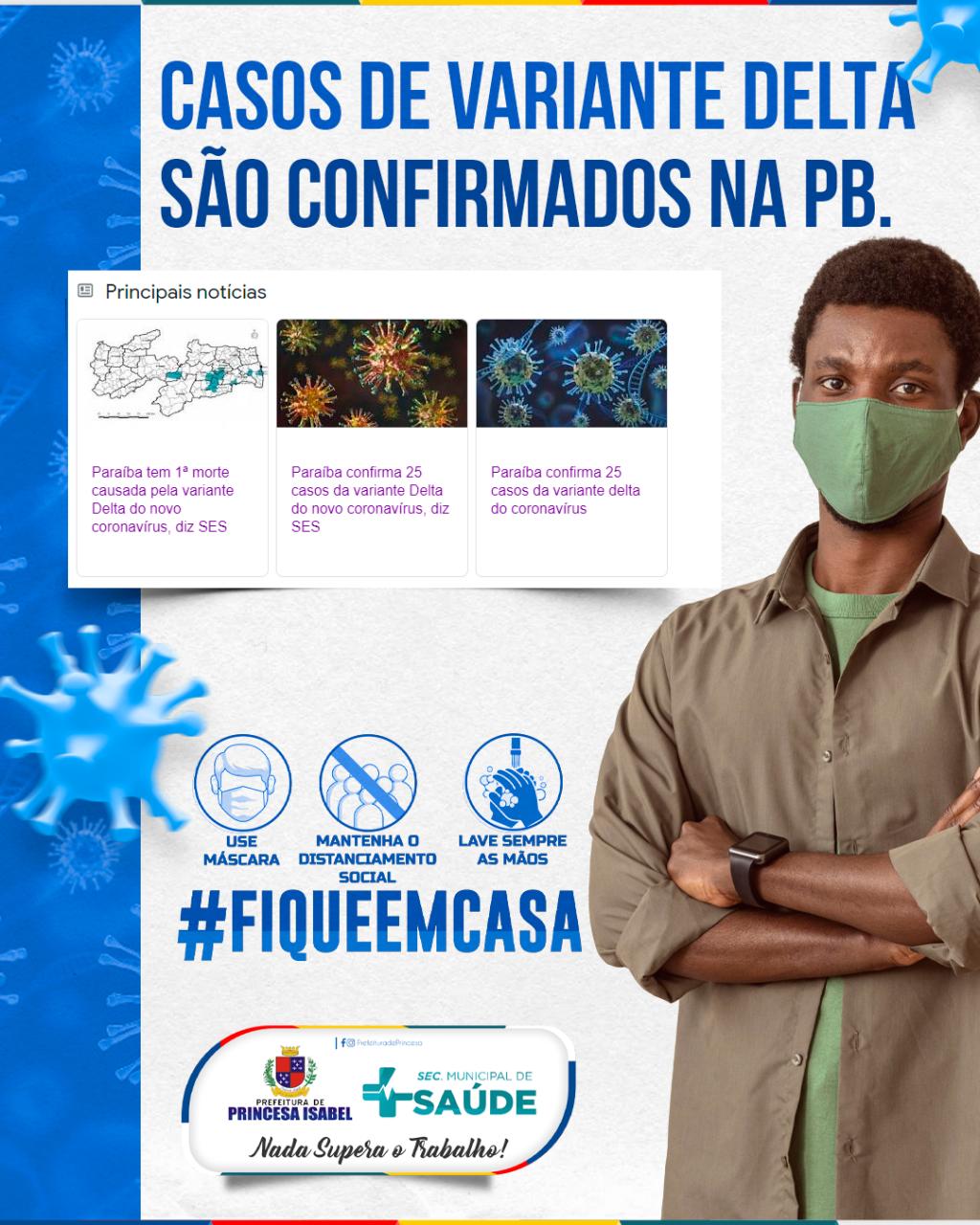 CASO DE VARIANTE DELTA SÃO CONFIRMADOS NA PB.