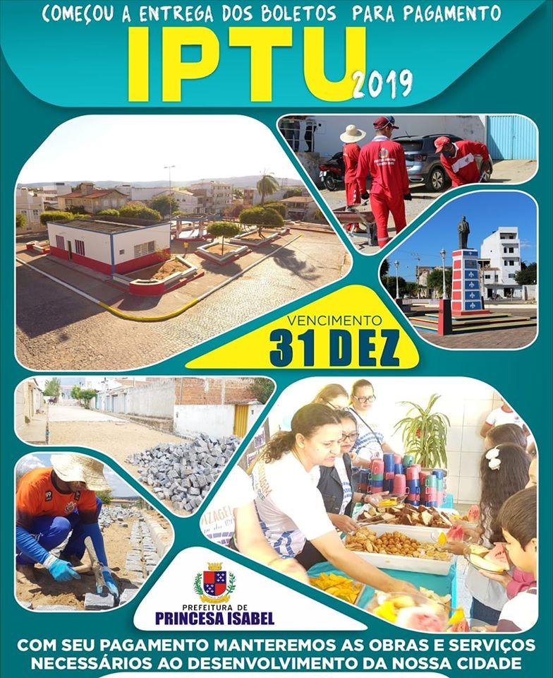PREFEITURA INICIA ENTREGA DE BOLETOS DE IPTU 2019