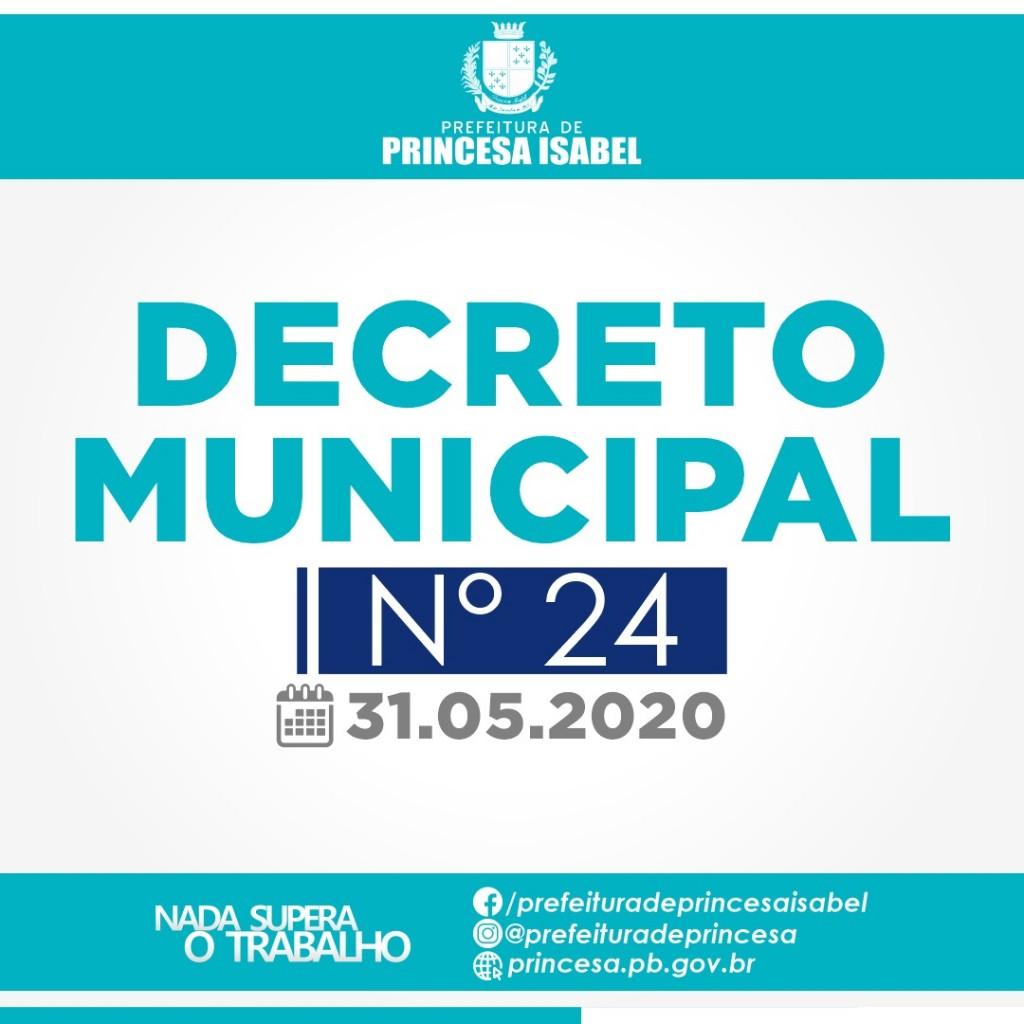 DECRETO MUNICIPAL N° 24/2020